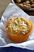 An apple and almond muffin