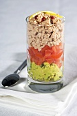 Tuna, tomato and avocado verrine