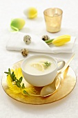 Cream of lemon soup