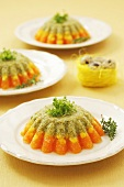Vegetable mousse in aspic