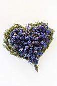 Lavendelherz (Draufsicht)