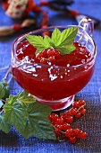 Redcurrant jelly in sauce-boat