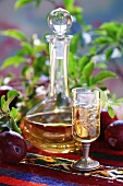 Home-made plum schnapps