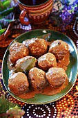 Lamb meatballs with sauce