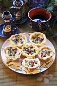 Mushroom (tawny milkcap) tarts