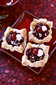 Cherry tarts (with puff pastry)