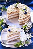 Malibu cake (Coconut cream cake)