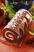 Chestnut roulade with whisky