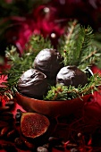 Chocolate balls for Christmas
