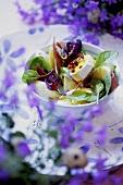 Beetroot leaf and egg salad
