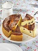 Swabian cheesecake, pieces cut