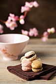 Luxemburgerli (Raspberry, chocolate and coffee macaroons)