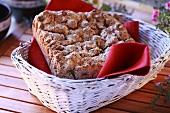 Rustic bread in bread basket
