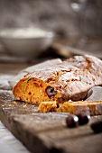 Tomato and black olive bread