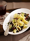 Orecchiette with balsamic lentils