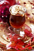 Christmas punch with whipped cream