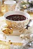 Borscht with caraway rolls (Christmas)