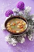 Fish soup with croutons (Christmas)