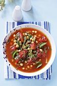 Zuppa di pomodoro e ceci (tomato and chickpea soup)