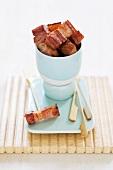 Crispy fried diced bacon