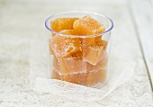 Squares of quince jelly