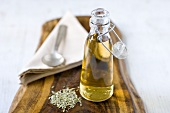 Fennel vinegar in bottle