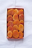 Dried apricots in packaging