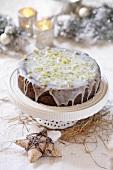 Iced poppy seed cake for Christmas (Poland)