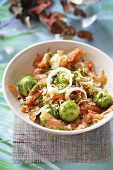 Brussels sprout and salmon salad