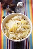 Sauerkraut with pineapple