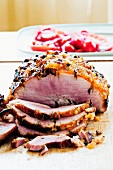 Roast ham with jam glaze