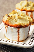 Cottage pie with mashed sweet potato
