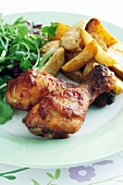 Chicken drumsticks with paprika potatoes