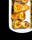 Gebackener Butternusskürbis mit Sahne und Parmesan