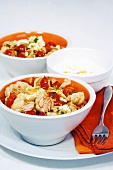 Conchiglie with tuna and cocktail tomatoes