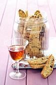Biscotti alla lavanda (almond and pistachio bscuits with lavender)