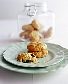 Coconut oat biscuits with raisins