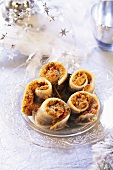 Herring rolls with nut pesto (Christmas)