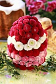 Arrangement of Bellis (Easter table decoration)
