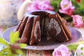 Chocolate ring cake for Easter