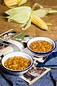 Sweetcorn and bean soup (Xhosa cuisine, South Africa)
