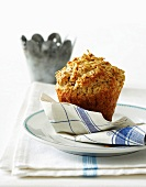 Oat and jam muffins