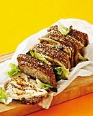 Honey mustard chicken sandwiches