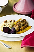 Moroccan-style chicken with saffron and ginger
