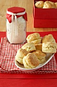 Scones, baking mixture in jar