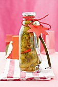 Pickled olives to give as a gift