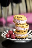 Sandwich cookies with cherries