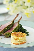 Lamb chops with potato gratin for Easter