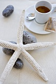 Espresso and maritime table decorations