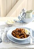 Beef and mushroom ragout